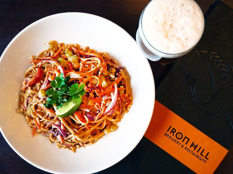 Try This: Spicy Peanut-Coconut Noodles with Rising Sun IPA