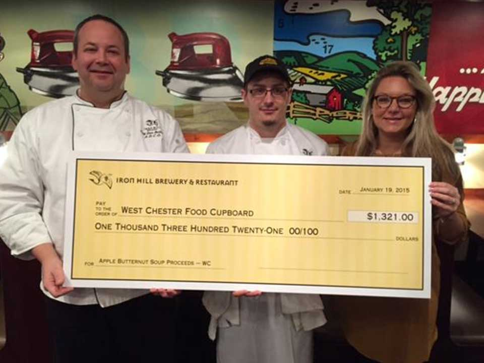 Iron Hill Donates $1,321 to West Chester Food Cupboard