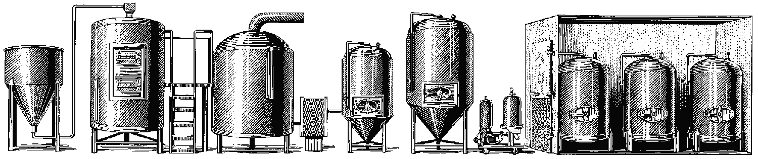 Brew process illustration